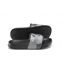 Детски джапанки с цяла лента АБ 10-19 сив камуфлаж 31/35 | Детски чехли и сандали | MES.BG