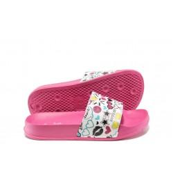 Детски джапанки с цяла лента АБ 11-19 розов 31/36 | Детски чехли и сандали | MES.BG