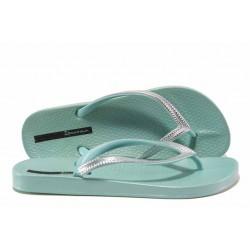 Анатомични дамски чехли Ipanema 82526 зелен-сребро | Бразилски чехли | MES.BG