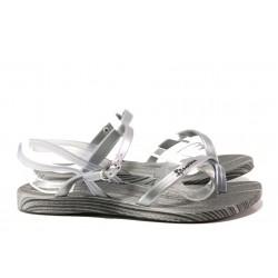 Анатомични дамски сандали Ipanema 82521 сив-сребро | Бразилски чехли и сандали | MES.BG