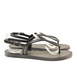 Равни дамски сандали Grendha 17637 черен | Бразилски чехли и сандали | MES.BG