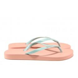 Анатомични дамски чехли Ipanema 81030 розов-зелен | Бразилски чехли | MES.BG