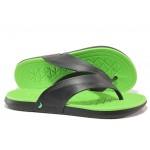 Анатомични мъжки чехли между пръстите Rider 82495 черен-зелен | Бразилски чехли | MES.BG