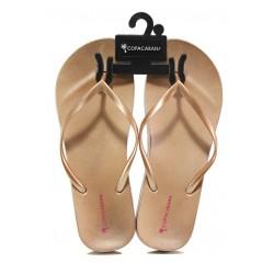 Анатомични дамски чехли Ipanema 82698 бежов-розов | Бразилски чехли | MES.BG