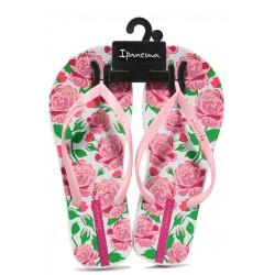 Равни дамски чехли Ipanema 82655 бял-розов | Бразилски чехли | MES.BG