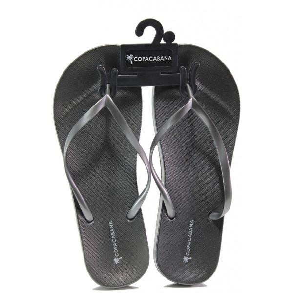 Анатомични дамски чехли Ipanema 82698 сив-сребро | Бразилски чехли | MES.BG