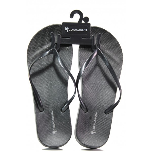 Анатомични дамски чехли Ipanema 82698 черен металик | Бразилски чехли | MES.BG