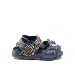 Детски сандали с лепенки АБ 13-19 син топка 24/29| Детски гумени сандали | MES.BG