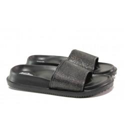 Дамски джапанки с цяла лента АБ 08-19 черен | Дамски джапанки и чехли | MES.BG