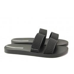 Равни дамски чехли Ipanema 26223 черен | Бразилски чехли и сандали | MES.BG