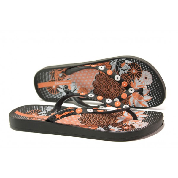 Анатомични дамски чехли Ipanema 82280 черен | Бразилски чехли и сандали | MES.BG