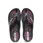 Дамски джапанки с лента между пръстите Runners 181-14485 черен | Дамски джапанки и чехли | MES.BG
