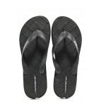 Мъжки джапанки с лента между пръстите Runners 191-2329 черен | Мъжки джапанки и чехли | MES.BG