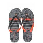 Мъжки джапанки с лента между пръстите Runners 191-18020 черен-червен | Мъжки джапанки и чехли | MES.BG