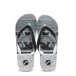 Мъжки джапанки с лента между пръстите Runners 191-А80125 черен-бял | Мъжки джапанки и чехли | MES.BG