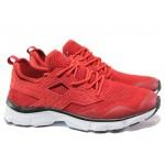 Мъжки летни маратонки на еластично ходило Runners 191-17167 червен | Мъжки маратонки | MES.BG
