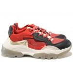 Иновативни юношески маратонки на комфортно ходило БИ 022 червен | Дамски маратонки | MES.BG