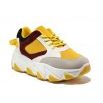 Иновативни юношески маратонки на комфортно ходило БИ 03 жълт | Дамски маратонки | MES.BG