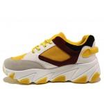 Иновативни юношески маратонки на комфортно ходило БИ 03 жълт   Дамски маратонки   MES.BG