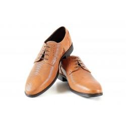 Елегантни мъжки обувки, естествена кожа, български, анатомични / МН Adam св.кафявN / MES.BG
