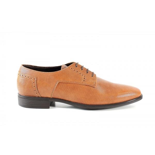 Елегантни мъжки обувки от естествена кожа МН Adam 150401 св.кафяв | Мъжки официални обувки | MES.BG