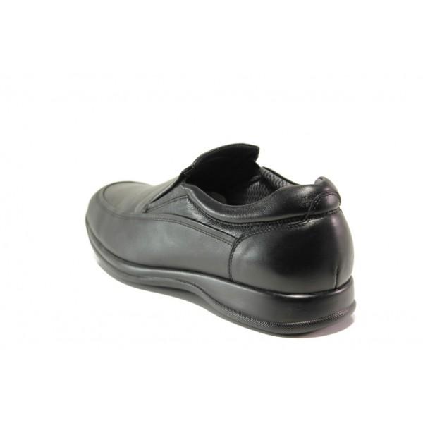 Мъжки ортопедични обувки от естествена кожа SOFTMODE 10-00 London черен | Мъжки ежедневни обувки | MES.BG