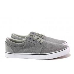Мъжки спортни обувки АБ 68-19 сив-бял | Мъжки ежедневни обувки | MES.BG