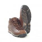 Водоустойчиви юношески кецове от естествена кожа МН NAPOLI 420201 кафяв | Юношески спортни обувки | MES.BG