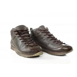 Водоустойчиви мъжки кецове от естествена кожа МН ROMA 420201 кафяв | Мъжки ежедневни обувки | MES.BG
