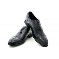 Елегантни мъжки обувки от естествена кожа МН Tody 130101 черен | Мъжки официални обувки | MES.BG