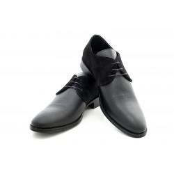 Елегантни мъжки обувки от естествена кожа МН Tommy 280101 черен | Мъжки официални обувки | MES.BG