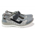 Летни дамски спортни обувки Rieker L32R7-12 св.син ANTISTRESS | Немски равни обувки | MES.BG