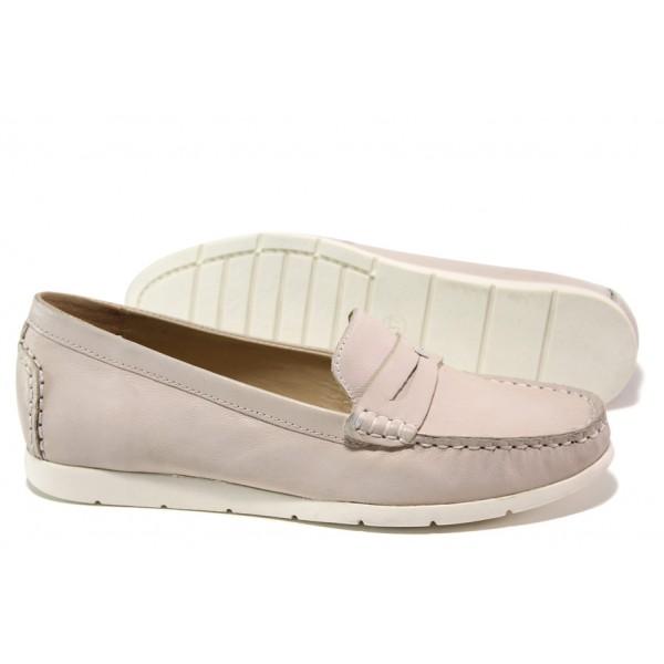 Дамски мокасини от естествена кожа Caprice 9-24251-22G розов | Немски равни обувки | MES.BG