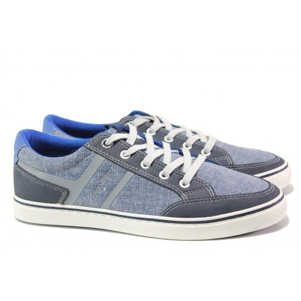 Мъжки летни спортни обувки S.Oliver 5-13628-22 св.син | Мъжки немски обувки | MES.BG