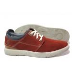 Мъжки спортни обувки от естествен набук S.Oliver 5-13601-22 червен | Немски мъжки обувки | MES.BG