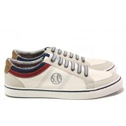Мъжки летни спортни обувки S.Oliver 5-13616-22 бял | Мъжки немски обувки | MES.BG