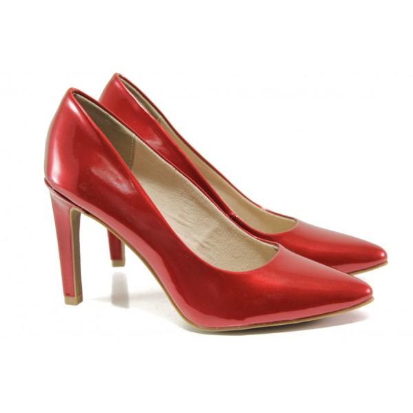 Елегантни лачени обувки Marco Tozzi 2-22415-32 чили лак | Немски обувки на ток | MES.BG