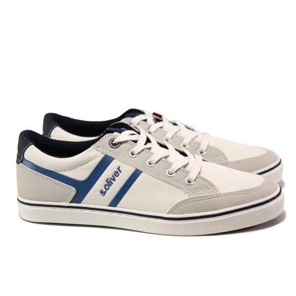 Мъжки летни спортни обувки S.Oliver 5-13628-22 бял | Мъжки немски обувки | MES.BG