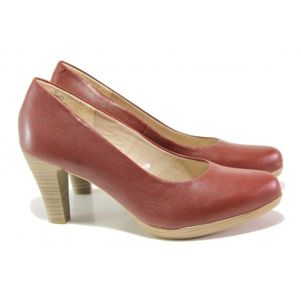 Дамски обувки от естествена кожа Marco Tozzi 2-22408-22 чили | Немски обувки на ток | MES.BG