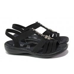 Дамски сандали на комфортно ходило Rieker 60806-00 черен ANTISTRESS | Немски равни сандали | MES.BG