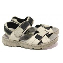 Равни дамски сандали с велкро лепенки Rieker 67853-60 бежов ANTISTRESS | Немски чехли и сандали | MES.BG