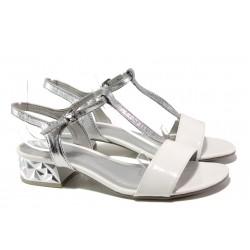 Комфортни дамски сандали Marco Tozzi 2-28209-22 бял | Немски сандали на ток | MES.BG