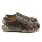 Мъжки сандали от естествена кожа Rieker 22074-25 кафяв ANTISTRESS | Немски мъжки обувки | MES.BG