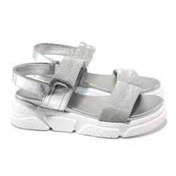 Анатомични дамски сандали S.Oliver 5-28202-22 сребро | Немски чехли и сандали | MES.BG