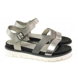 Комфортни дамски сандали S.Oliver 5-28207-22 сив | Немски чехли и сандали | MES.BG