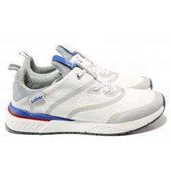 Мъжки летни маратонки S.Oliver 5-13607-22 бял | Мъжки немски обувки | MES.BG