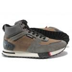 Мъжки спортни боти - тип кец от естествена кожа S.Oliver 5-15221-23 кафяв   Немски мъжки обувки   MES.BG