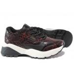 Модерни дамски маратонки S.Oliver 5-23610-23 черен-червен | Немски спортни обувки | MES.BG
