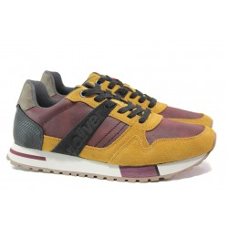Мъжки маратонки с естествен велур-кожа S.Oliver 5-13610-23 горчица | Мъжки немски обувки | MES.BG
