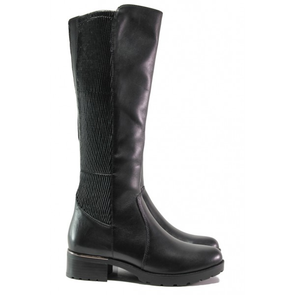 Дамски ботуши от естествена кожа Caprice 9-25613-23G черен | Немски ботуши | MES.BG